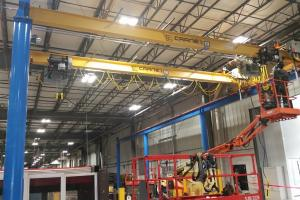 5-ton capacity Crane system installation for IMMI in Westfield, IN